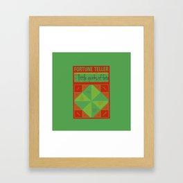 fortune teller the little quirks of fate Framed Art Print