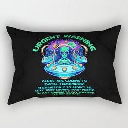 Aliens Guy Ancient Astronaut Theorist Rectangular Pillow