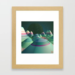 Stripy Landscape Framed Art Print