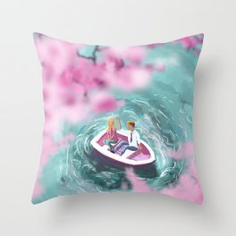 A Cherry Blossom for You? Throw Pillow