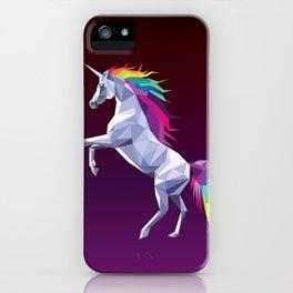 Geometric Unicorn iPhone Case