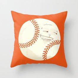 Happy Baseball Throw Pillow