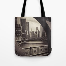 Up The Chicago River Tote Bag