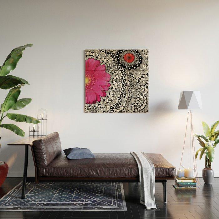Flower Tangle Wood Wall Art