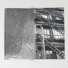 Americana - Fire Escape - Manhatten - NYC Throw Blanket