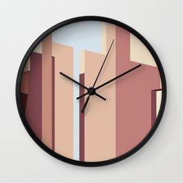 Geometric Landscapes of La Muralla Roja 2 Wall Clock