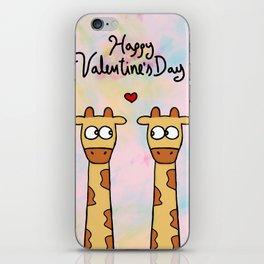 Valentine's Day - Giraffes iPhone Skin
