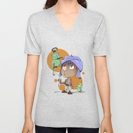 Cute Aladdin Unisex V-Neck
