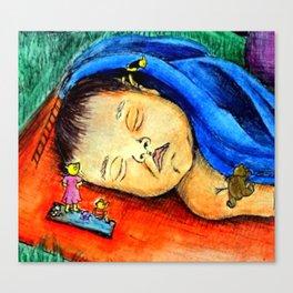 Little Bear's Picnic Canvas Print
