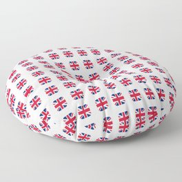 Flag of UK - with soft square Floor Pillow