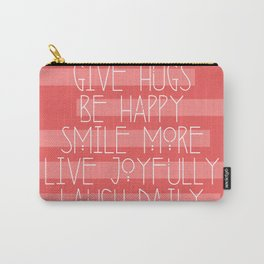 Daily Guide In Coral Carry-All Pouch