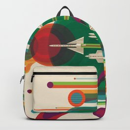 Retro Space Poster - The Grand Tour Backpack
