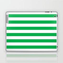 Horizontal Green Stripes Laptop & iPad Skin