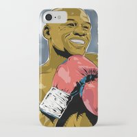 floyd iPhone & iPod Cases featuring Floyd Mayweather by Averagejoeart