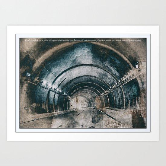Tunnel of life Art Print