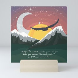 Where the Sun Sails and the Moon Walks Mini Art Print