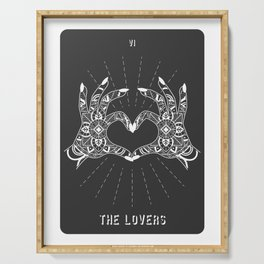 Minimal Tarot Deck The Lovers Serving Tray