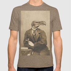 NUMBER 10 Mens Fitted Tee LARGE Tri-Coffee