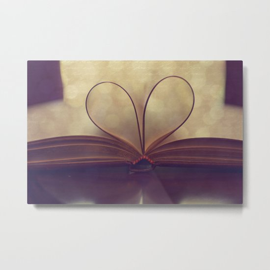 Love of the Book Metal Print