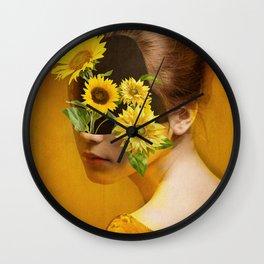 Sunflower Lady Wall Clock