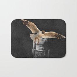 Man with Bird Bath Mat