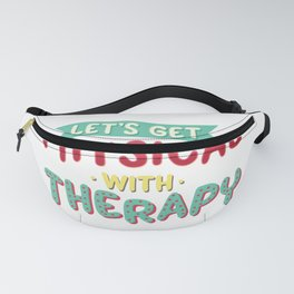 Lets Get Physical Therapist Gift Physical Therapy PT Month Design Fanny Pack