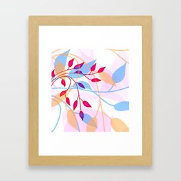 bright Flood of Leafs Framed Art Print