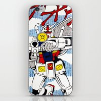 gundam iPhone & iPod Skins featuring POP FUSION - R-78 Gundam by atelierMUSE