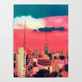 Sao Paulo - Art Poster