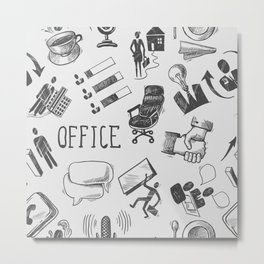 Office pattern Metal Print
