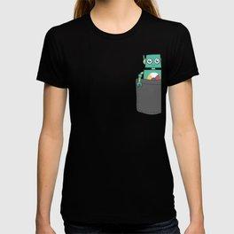 Green Pocket Robot T-shirt
