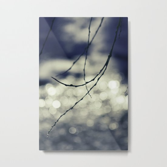 beads of light Metal Print