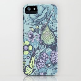 Beauty (eye of the beholder) - aqua version iPhone Case