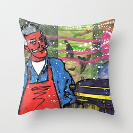 Demon Jaques and the Julia Specter Throw Pillow