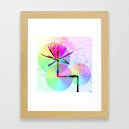 Rainbow Lotus Framed Art Print