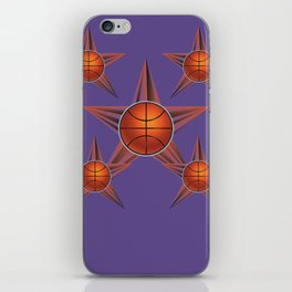 Basketball ball in the star iPhone Skin