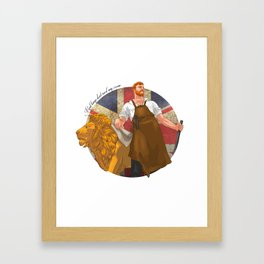 Real kings don't need any crown Framed Art Print