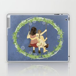 Sisters on swing Laptop & iPad Skin