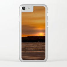Sunset in December Clear iPhone Case