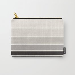 Grey Minimalist Watercolor Mid Century Staggered Stripes Rothko Color Block Geometric Art Carry-All Pouch