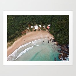 Tropical Summer Beach in The Philippines Art Print
