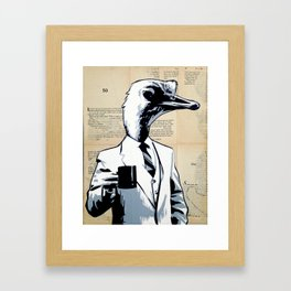 Duck Head Framed Art Print