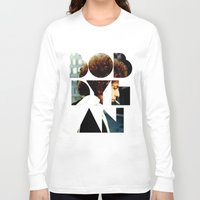 woodstock Long Sleeve T-shirts featuring Bob Dylan Font Colour by Fligo