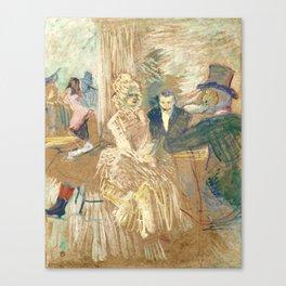 """Henri de Toulouse-Lautrec """"Au Bal masqué de l'Elysée Montmartre"""" Canvas Print"""