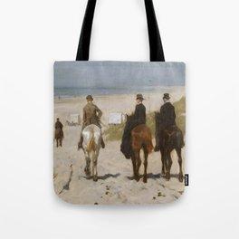 Morning Ride On The Beach - Anton Mauve Tote Bag