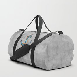Maritime Design- Nautic Anchor Navy Marine Beach Duffle Bag