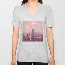 Stardust Covering New York Unisex V-Neck