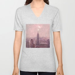 Stardust Covering New York Unisex V-Neck