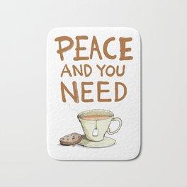 Peace and you need Tea Bath Mat