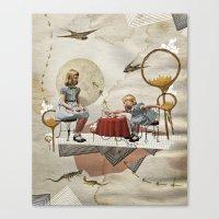 tea Canvas Prints featuring tea time by Heather Landis